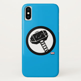 Thor Retro Hammer Icon iPhone X Case