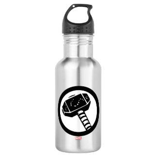 Thor Retro Hammer Icon Water Bottle