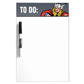 Thor Standing Tall Retro Comic Art Dry-Erase Board
