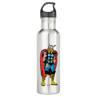 Thor Standing Tall Retro Comic Art Stainless Steel Water Bottle