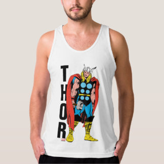 Thor Standing Tall Retro Comic Art Tank Top