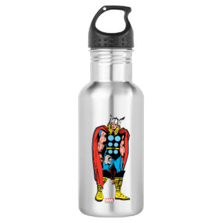 Thor Standing Tall Retro Comic Art Water Bottle