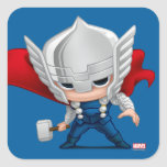 Thor Stylized Art Square Sticker