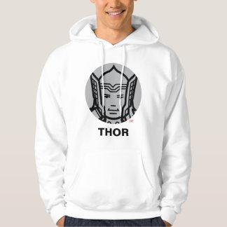 Thor Stylized Line Art Icon Hoodie