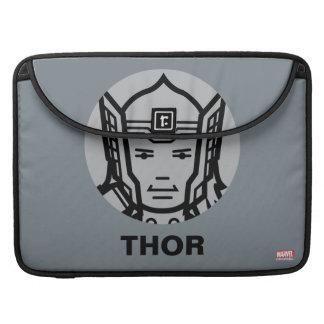 Thor Stylized Line Art Icon MacBook Pro Sleeve