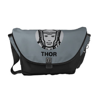 Thor Stylized Line Art Icon Messenger Bag