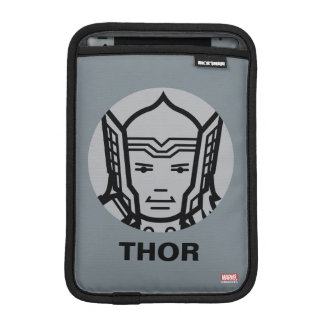 Thor Stylized Line Art Icon Sleeve For iPad Mini