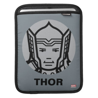 Thor Stylized Line Art Icon Sleeve For iPads