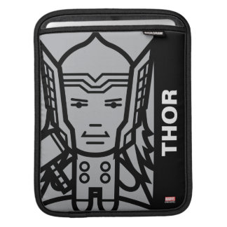 Thor Stylized Line Art Sleeve For iPads