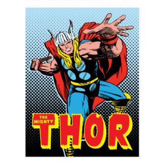 Thor Swing Back Mjolnir Postcard