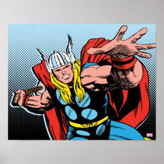 Thor Swing Back Mjolnir Poster