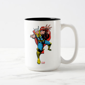 Thor Swing Back Mjolnir Two-Tone Coffee Mug