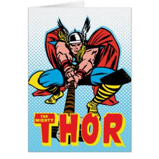 Thor Swinging Mjolnir Forward Card