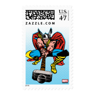 Thor Swinging Mjolnir Forward Postage