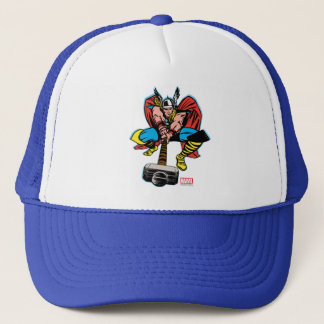 Thor Swinging Mjolnir Forward Trucker Hat