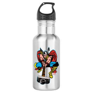 Thor Swinging Mjolnir Forward Water Bottle