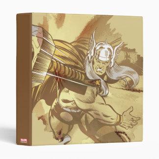 Thor Throwing Mjolnir 3 Ring Binder