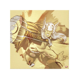 Thor Throwing Mjolnir Canvas Print