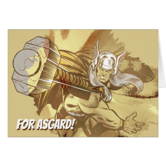 Thor Throwing Mjolnir Card