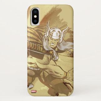 Thor Throwing Mjolnir iPhone X Case