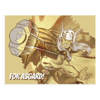 Thor Throwing Mjolnir Postcard