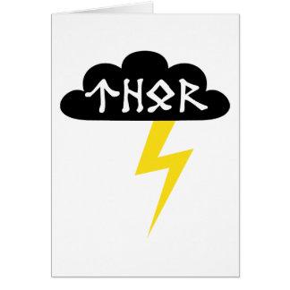 Thor Thunderbolt Greeting Card