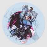 Thor Watercolor Character Graphic Classic Round Sticker