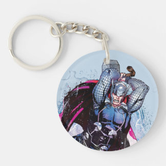 Thor Watercolor Character Graphic Keychain