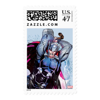 Thor Watercolor Character Graphic Postage