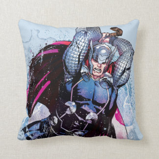 Thor Watercolor Character Graphic Throw Pillow