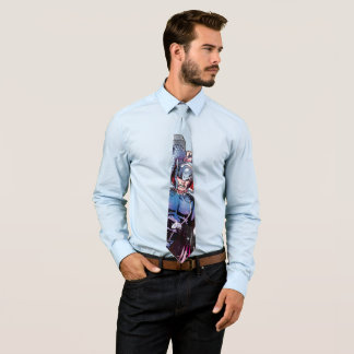 Thor Watercolor Character Graphic Tie