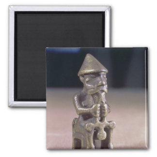 Thor with a hammer, statuette found in Iceland 2 Inch Square Magnet