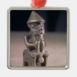 Thor with a hammer, statuette found in Iceland Metal Ornament