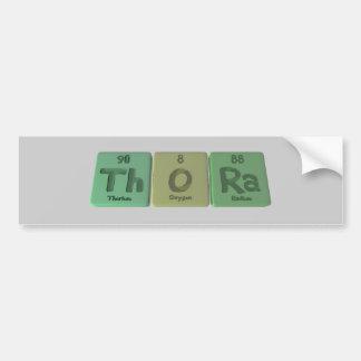Thora as Thorium Oxygen Radium Bumper Sticker