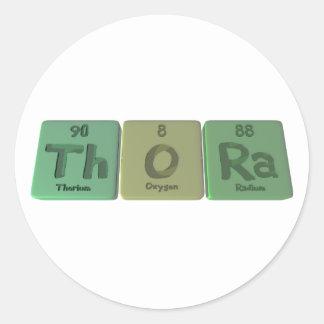 Thora as Thorium Oxygen Radium Classic Round Sticker