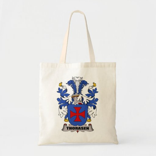 Thorasen Family Crest Tote Bag