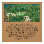 thoreau and wilderness poster
