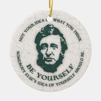 Thoreau - Be Yourself Christmas Tree Ornaments