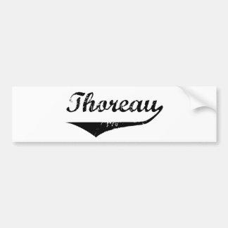 Thoreau Car Bumper Sticker