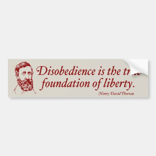 thoreau civil disobedience Civil disobedience when should civil disobedience be justified civil disobedience is defined as the refusal to obey government laws, in an effort to bring upon a change in governmental policy or legislation.