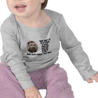 Thoreau cómo es inútil siéntese para escribir no l camisetas