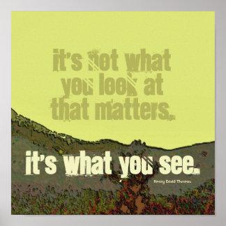 Thoreau de motivación poster