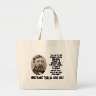Thoreau Different Drummer Step To The Music Large Tote Bag