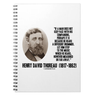 Thoreau Different Drummer Step To The Music Notebook