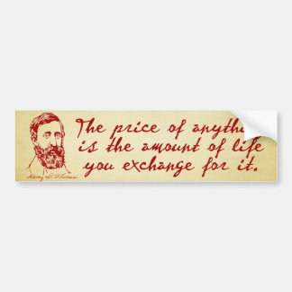 Thoreau Disobedience Bumper Sticker