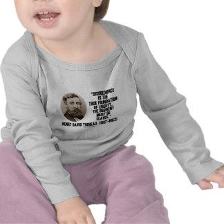 Thoreau Disobedience True Foundation Of Liberty T Shirts