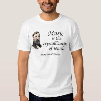 Thoreau en sonido y música camisas