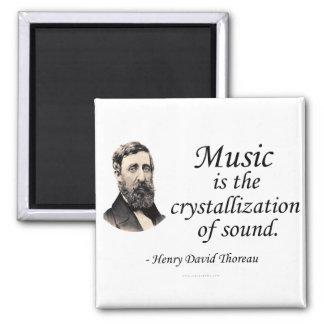 Thoreau en sonido y música imán cuadrado