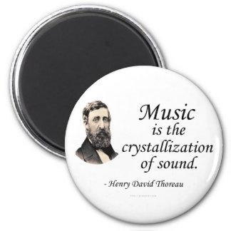 Thoreau en sonido y música imán redondo 5 cm