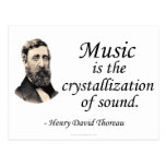 Thoreau en sonido y música postal